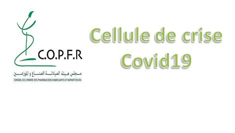 Création de la cellule de crise Covid19