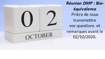 Réunion DMP :Bio-équivalence