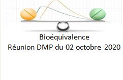 DMP-Bioeq : Réunion du 02/10/2020