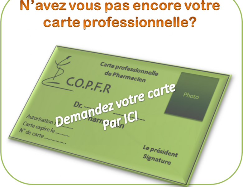 Autorisés! Demandez votre Carte professionnelle
